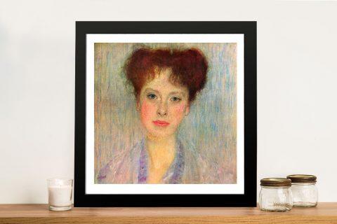 Portrait of Gertha Felsövanyi Framed Print