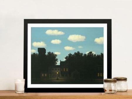 Magritte's The Empire of Light II Framed Wall Art