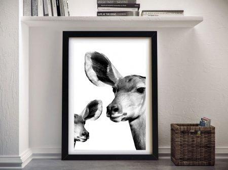 Antelope & Baby Safari Wildlife Framed Wall Art