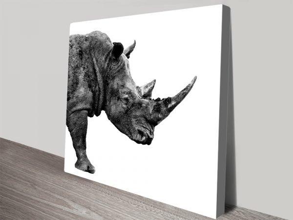 Buy Canvas Wall Art of a Rhino Gift Ideas AU