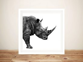 Buy Safari Profile Rhino Framed Wall Art Online