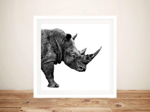 Buy Safari Profile Rhino Framed Wall Art Online
