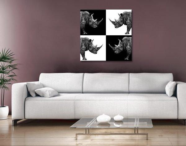Buy Cheap Rhino Canvas Wall Art Online AU