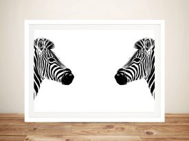 Zebras Face to Face Framed Wall Art