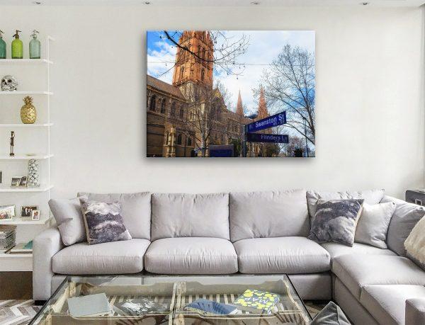 Buy Swanston Street Australian Canvas Art