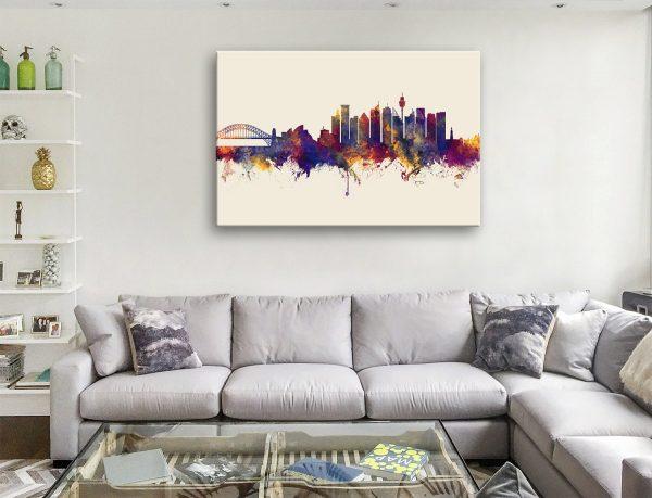 Sydney Australia Michael Tompsett Skyline Canvas Artwork