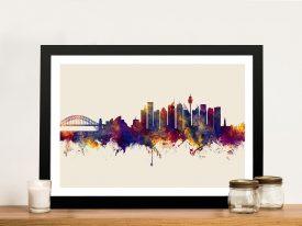 Sydney Skyline Framed Wall Art Michael Tompsett
