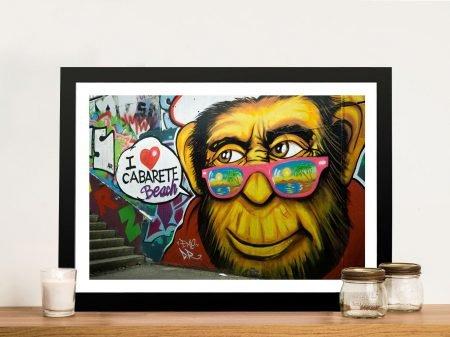 Buy Beach Monkey Framed Graffiti Print