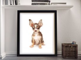 Chihuahua Framed Dog Watercolour Wall Art