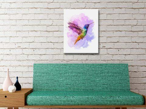 Buy Hummingbird Stretched Canvas Art AU