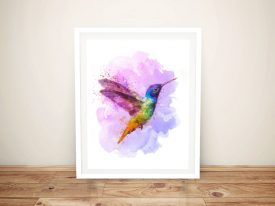 Buy Watercolour Hummingbird Framed Art