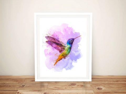 Buy Watercolour Hummingbird Framed Art