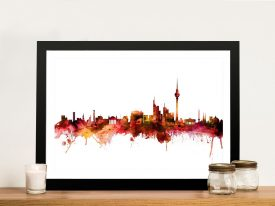 Buy Berlin Skyline Framed Canvas Wall Art