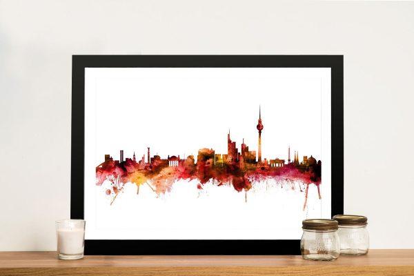 Buy Berlin Skyline Framed Canvas Wall Art