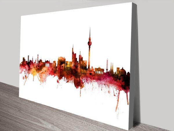 Buy Berlin Skyline Cheap Wall Art Online