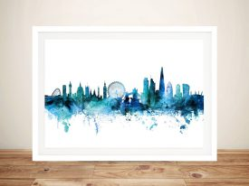 Buy Wall Art of London's Skyline in Blue