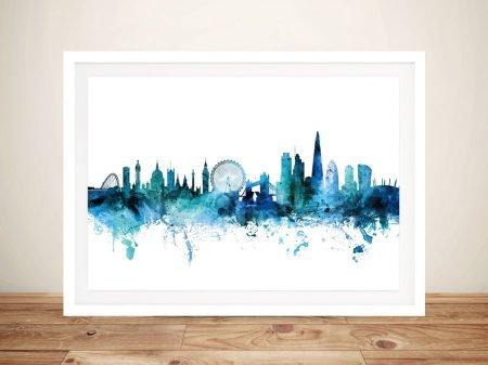Buy Wall Art of London's Skyline in Blue
