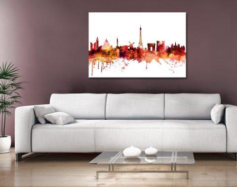Paris Skyline Print by Michael Tompsett AU