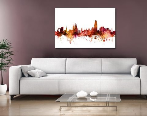 Buy Barcelona Skyline Unique Gift Ideas Online