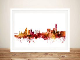 Buy Manchester Skyline Stretched Canvas Art