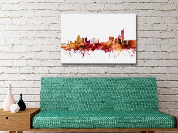 Buy Manchester City Autumnal Art Print AU