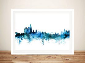 Buy A Framed Print of Amsterdam Skyline