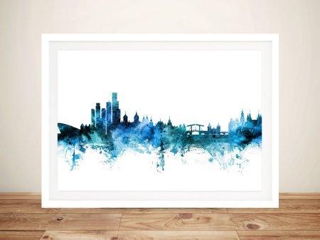 Buy A Framed Print of Amsterdam Skyline