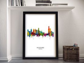 Melbourne Skyline Multicoloured Wall Art
