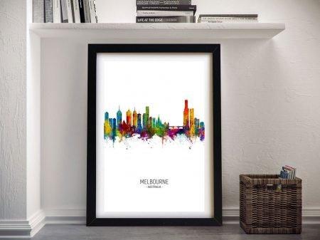 Melbourne Skyline Multicoloured Wall Art