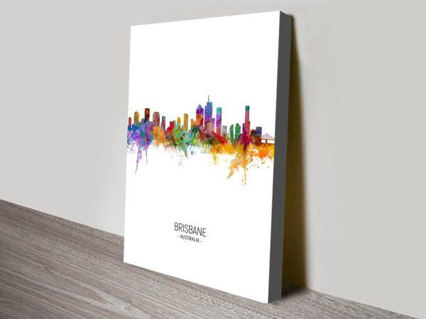 Buy Brisbane Skyline Prints In Various Colours