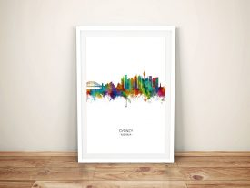 Buy Sydney Skyline Multicolour Framed Art