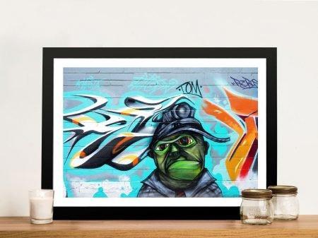 Buy Green Man Framed Graffiti Artwork