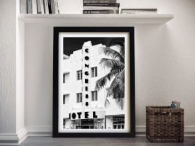 Art Deco Architecture Framed Canvas Wall Art