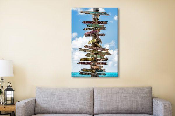 Buy Destination Signs Wall Art Gift Ideas AU