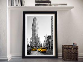 Buy Yellow Cabs NYC A Hugonnard Framed Print