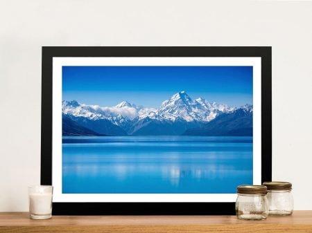 Buy Blue Mountain Lake Arresting Wall Art