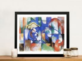 Bull by Franz Marc Framed Wall Art