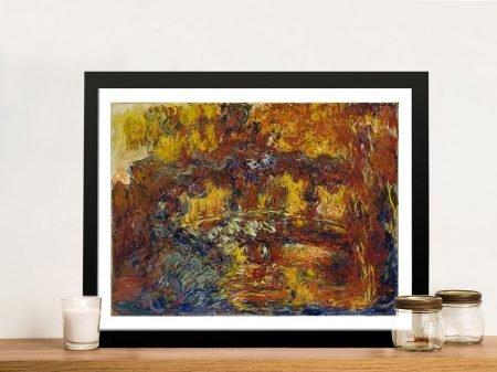 The Japanese Footbridge A Framed Monet Print