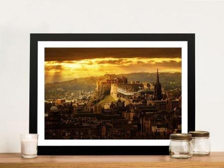Buy Edinburgh Castle at Sunset Framed Artwork