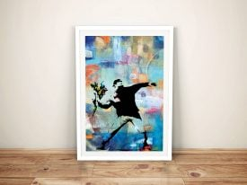 Buy Flower Thrower Banksy Framed Artwork