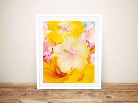 Georgia OKeeffe Hibiscus Framed Wall Art