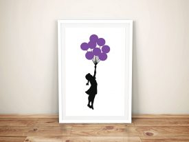 Girl with Balloons Banksy Framed Canvas Art
