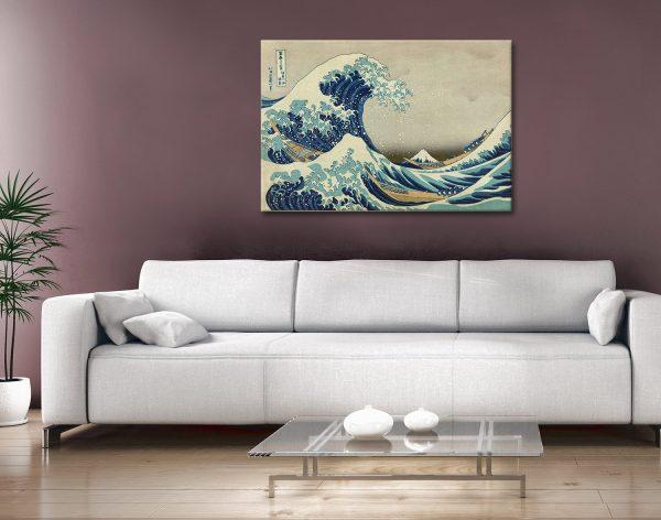 Great Wave off Kanagawa Hokusai Canvas Artwork