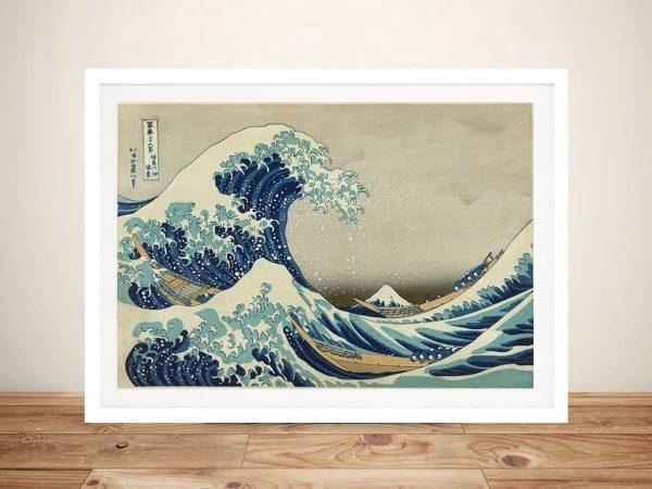 Great Wave Hokusai Framed Wall Art