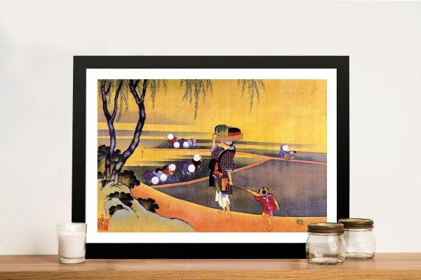 Buy Rice Fields Japanese Framed Wall Art