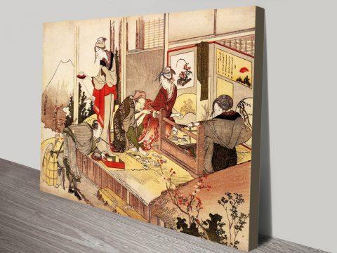 The Studio of Netsuke By Hokusai Artwork AU
