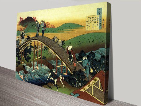 Traveller's on the Bridge Cheap Wall Art Australia