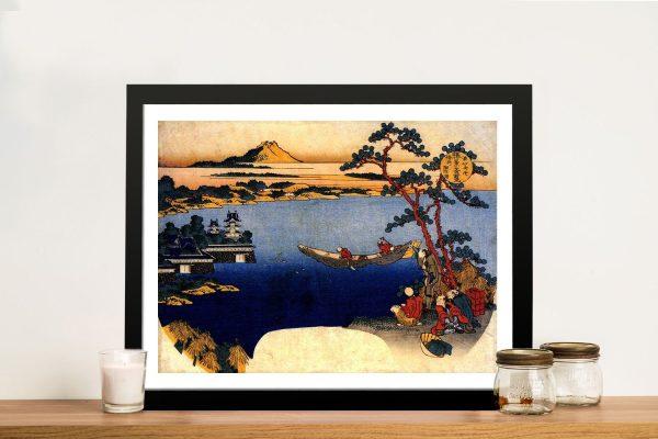 Buy View of Lake Suwa Japanese Framed Print
