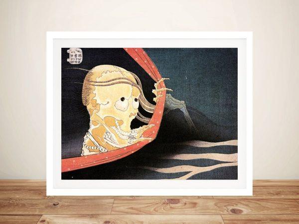 Buy Hokusai Weird Skeleton Framed Print