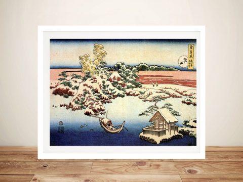 Winter Landscape of Suda Japanese Wall Art
